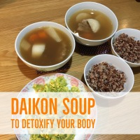 Simple and easy Daikon soup for detox and weight-loss [白萝卜汤]