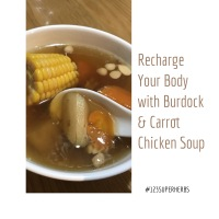 Recharge your body with Burdock Root & Carrot Chicken Soup