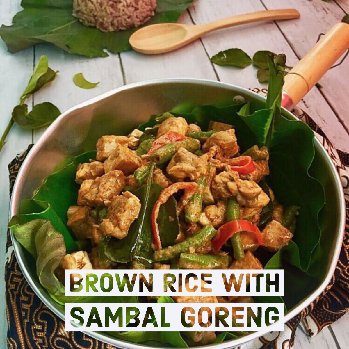 Brown Rice with Sambal Goreng