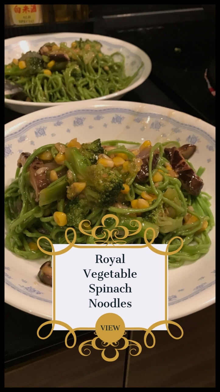 Great Vegetable Spinach Noodles