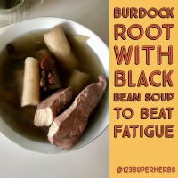 Burdock Root with Black Bean Soup to Beat Fatigue from Late Night Work